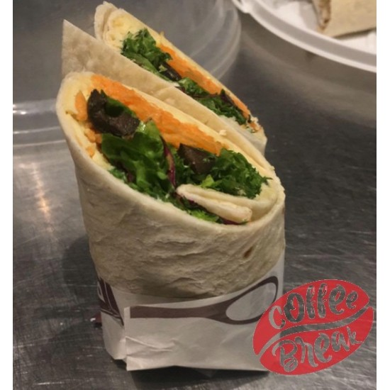Hummus and Carrot Wrap